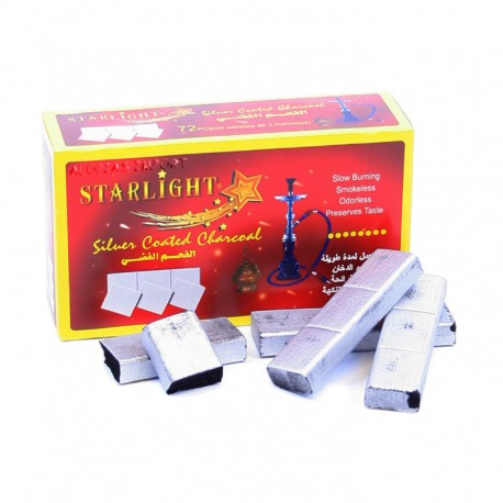 Starlight silver coated houtskool-strips